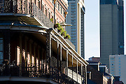 19 SEPTEMBER 2006 - NEW ORLEANS, LOUISIANA: The Pontabla Building, which is on the National Register of Historic Places, with skyscrapers in the background in New Orleans, LA. Photo by Jack Kurtz / ZUMA Press