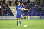 AFC Wimbledon defender Paul Robinson (6) with arms open during the EFL Trophy match between AFC Wimbledon and Luton Town at the Cherry Red Records Stadium, Kingston, England on 31 October 2017. Photo by Matthew Redman.