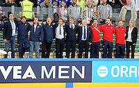 Staff France - 12.05.2015 - Lettonie / France - Championnats du Monde Hockey sur Glace -Prague<br /> Photo : Xavier Laine / Icon Sport