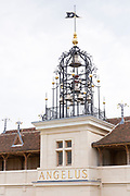Bell tower of Chateau Angelus famous for luxury wine St Emilion Grand Cru, St Emilion, France