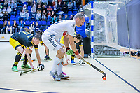 ROTTERDAM  - Teun Rohof (Adam) .  finale NK  zaalhockey hoofdklasse, Den Bosch H1-Amsterdam H1 (2-5) .   COPYRIGHT  KOEN SUYK
