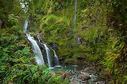 Waikani Falls, aka Three Bears, Hana Coast, Maui, Hawaii