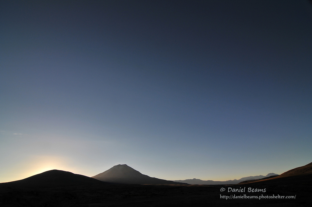 Sunset on the southern altiplano of Bolivia