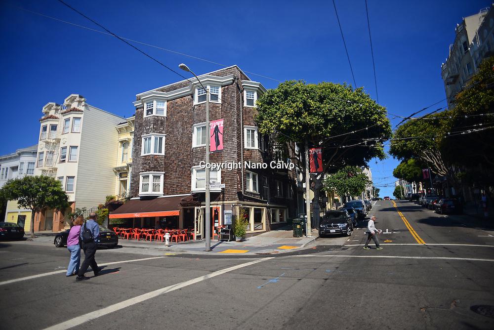 Streets of San Francisco, California.