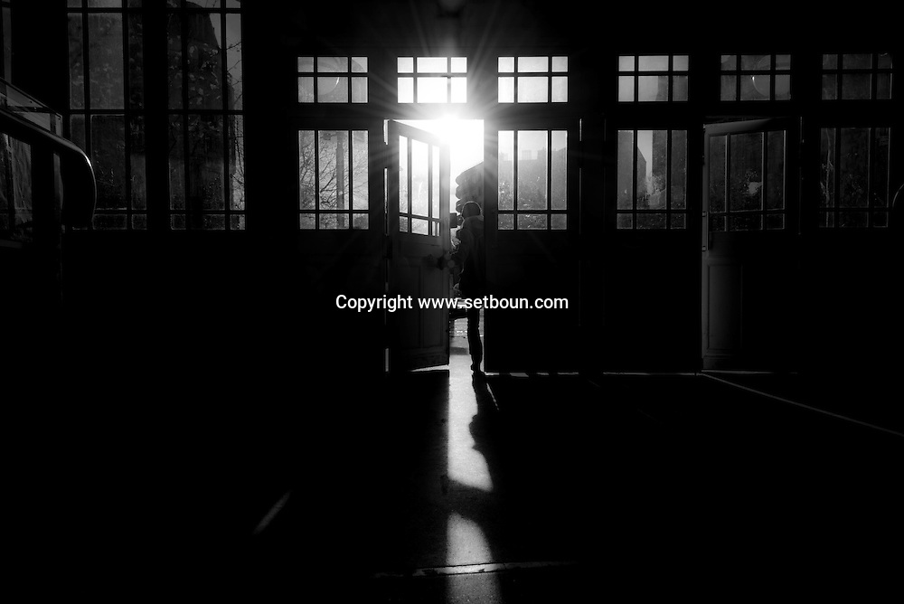 France. Paris.5th district.. the old art deco entrance of port Royal RER subway