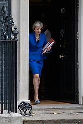 © Licensed to London News Pictures. 24/10/2018. London, UK. Prime Minister Theresa May leaves 10 Downing Street as she heads to Parliament. Photo credit: Rob Pinney/LNP