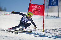 Francis Piche Invitational Giant Slalom U14 boys first run with Gunstock Ski Club.  <br /> ©2017 Karen Bobotas Photographer