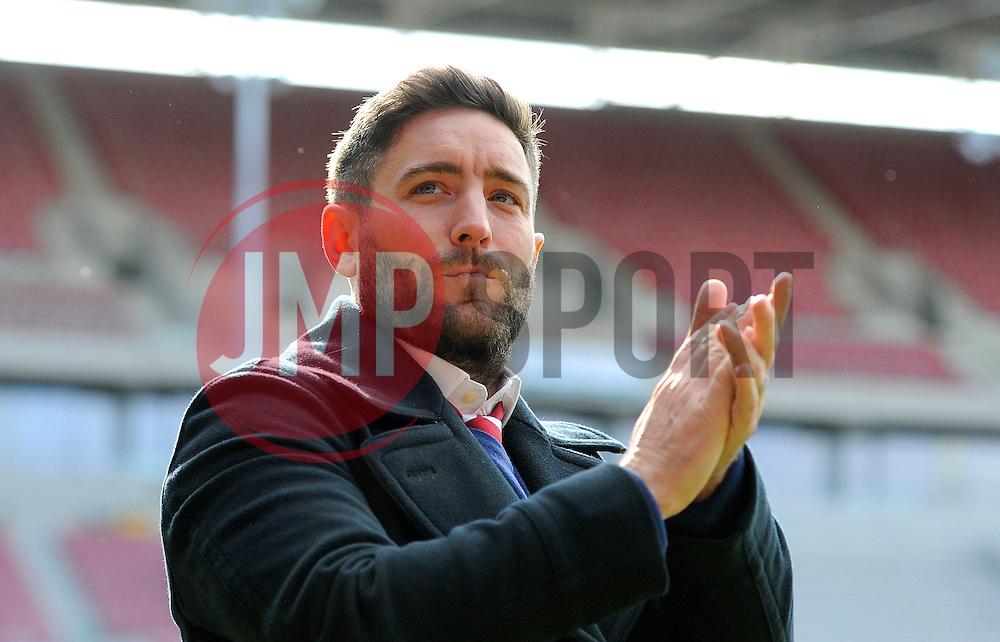 Bristol City head coach Lee Johnson  - Mandatory by-line: Joe Meredith/JMP - 30/04/2016 - FOOTBALL - Ashton Gate Stadium - Bristol, England - Bristol City v Huddersfield Town - Sky Bet Championship