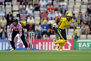 Rilee Rossouw of Hampshire batting during the Vitality T20 Blast South Group match between Hampshire County Cricket Club and Middlesex County Cricket Club at the Ageas Bowl, Southampton, United Kingdom on 20 July 2018. Picture by Dave Vokes.