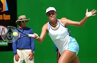 MELBOURNE, AUSTRALIA - JANUARY 20:  Alexandra Stevenson of USA in action against Marion Bartoli of France  during day two of the Australian Open. 20/01/2004, in Melbourne, Australia. (Photo by Lars Mueller/Sportsbeat) *** Local Caption *** Alexandra Stevenson