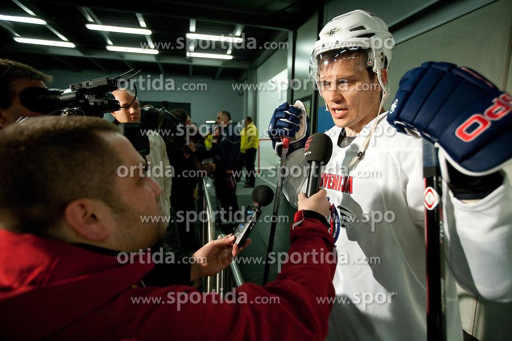 Marcel Rodman during practice session of Slovenian National ice hockey team 1 day before IIHF 2011 World Championship Slovakia, on April 28, 2011 in Hala B, Orange Arena, Bratislava, Slovakia. (Photo By Vid Ponikvar / Sportida.com)