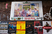 Posters and sign for Kilkenny Irish Pub, Berlin