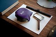 (En) Tokyo, November 2009 - In the house of Japanese writer Akira Yoshimura, near Kichijoji's Inokashira Park. <br /> Setsuko Tsumura, Yoshimura's widow, decided to put his ashes on his desk, for him to could write when he wish to.<br /> <br /> (Fr) Dans la maison de l'&eacute;crivain japonais Akira Yoshimura, pr&egrave;s du parc Inokashira dans le quartier de Kichijoji. <br /> Sa veuve, Setsuko Tsumura, a conserve ses ossements et a decide de les placer sur son bureau, pour qu'il puisse ecrire si il le souhaite.