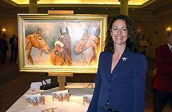 Artist SARAH ASPINALL at The Sir Peter O'Sullevan Charitable Trust Lunch at The Savoy, London on 23rd November 2005.<br />