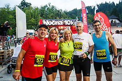 Runners at 10th Nocna 10ka 2016, traditional run around Bled's lake, on July 09, 2016 in Bled,  Slovenia. Photo by Grega Valancic / Sportida