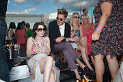 ANNA ABRAMOVICH; HENRY HOLLAND, After party at China White's club. Cartier International Day at Guard Polo Club, Windsor Great Park. 24 July 2011. ChinaWhite Tent during Cartier Polo. <br /> <br />  , -DO NOT ARCHIVE-© Copyright Photograph by Dafydd Jones. 248 Clapham Rd. London SW9 0PZ. Tel 0207 820 0771. www.dafjones.com.