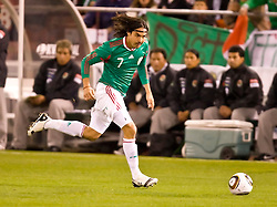 February 24, 2010; San Francisco, CA, USA;  Mexico midfielder Braulio Luna (7) during the first half against Bolivia at Candlestick Park.  Mexico defeated Bolivia 5-0.