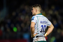 James Grayson of Northampton Saints looks on during a break in play - Mandatory byline: Patrick Khachfe/JMP - 07966 386802 - 09/11/2019 - RUGBY UNION - The Recreation Ground - Bath, England - Bath Rugby v Northampton Saints - Gallagher Premiership
