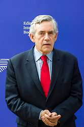 Pictured: Gordon Brown<br /> <br /> James Gordon Brown FRSE is a British politician who was Prime Minister of the United Kingdom and Leader of the Labour Party from 2007 to 2010. He served as Chancellor of the Exchequer in the Blair Government from 1997 to 2007.