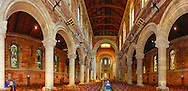 Panoramic view of the inside of St. Anne's Cathedral in Belfast consisting of 6 images at 18mm