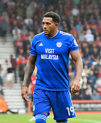 Nathaniel Mendez-Laing (19) of Cardiff City during the Premier League match between Bournemouth and Cardiff City at the Vitality Stadium, Bournemouth, England on 11 August 2018.