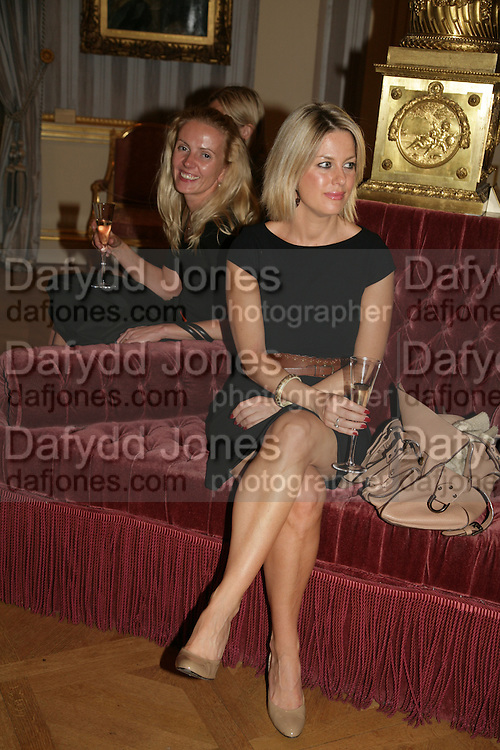 Anahita Resort launch party. Wallace Collection. London. 12 September 2007. ( Photo by Dafydd Jones) Anastasia Bem;Georgina Bouzova -DO NOT ARCHIVE-© Copyright Photograph by Dafydd Jones. 248 Clapham Rd. London SW9 0PZ. Tel 0207 820 0771. www.dafjones.com.