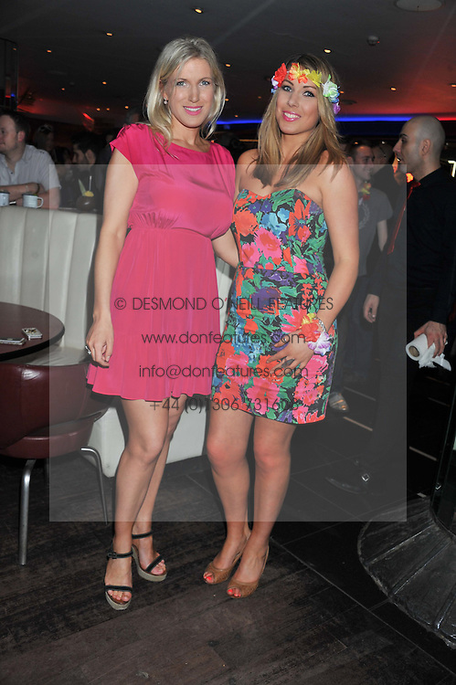 Left to right, sisters ALI MORTON and OLIVIA MORTON at a party to celebrate the opening of the Rum Shack, Floridita, 100 Wardour Street, London on 1st February 2013.