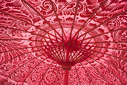 Detail of the underside of a parasol at the WOMAD (World of Music; Arts and Dance) Festival in reading; 2005,