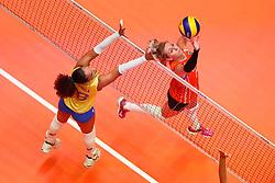 20180531 NED: Volleyball Nations League Netherlands - Brazil, Apeldoorn<br />Laura Dijkema (14) of The Netherlands <br />©2018-FotoHoogendoorn.nl