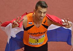 08-03-2015 CZE: European Athletics Indoor Championships, Prague<br /> Eelco Sintnicolaas pakt de bronze medaille
