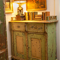 Rustic Cabin: Cabinet with books