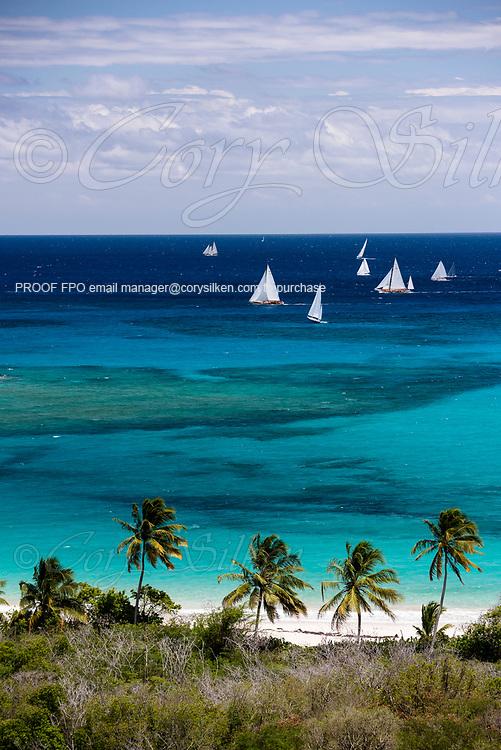 Antigua Classic Yacht Regatta, Butterfly Race.
