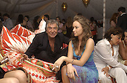 Roberto Cavalli and Camilla Al Fayad, , The  Summer party, hosted by the Serpentine Gallery and Robert Cavalli, 16 June 2004. 16 June 2004. SUPPLIED FOR ONE-TIME USE ONLY> DO NOT ARCHIVE. © Copyright Photograph by Dafydd Jones 66 Stockwell Park Rd. London SW9 0DA Tel 020 7733 0108 www.dafjones.com