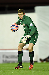 Bristol City goalkeeper, Frank Fielding in action during the FA Cup third round replay between Bristol City and Doncaster Rovers at Ashton Gate on January 14, 2015 in Bristol, England. - Photo mandatory by-line: Paul Knight/JMP - Mobile: 07966 386802 - 13/01/2015 - SPORT - Football - Bristol - Ashton Gate Stadium - Bristol City v Doncaster Rovers - FA Cup third round replay