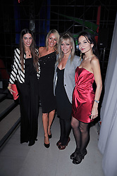 Left to right, AMBER LE BON, TESS DALY, JO WOOD and YASMIN MILLS at the 2nd Rodial Beautiful Awards in aid of the Hoping Foundation held at The Sanderson Hotel, 50 Berners Street, London on 1st February 2011.
