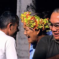Oceania, South Pacific, French Polynesia, Tahiti. Papeete Market scene.