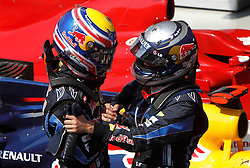 Motorsports / Formula 1: World Championship 2010, GP of Brazil, 06 Mark Webber (AUS, Red Bull Racing),   05 Sebastian Vettel (GER, Red Bull Racing),