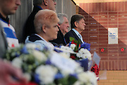 John Madejski Remembrance Day tribute at Reading before the Sky Bet Championship match between Reading and Brighton and Hove Albion at the Madejski Stadium, Reading, England on 31 October 2015.