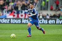 Jordan FERRI - 04.04.2015 - Guingamp / Lyon - 31eme journee de Ligue 1<br />Photo : Vincent Michel / Icon Sport