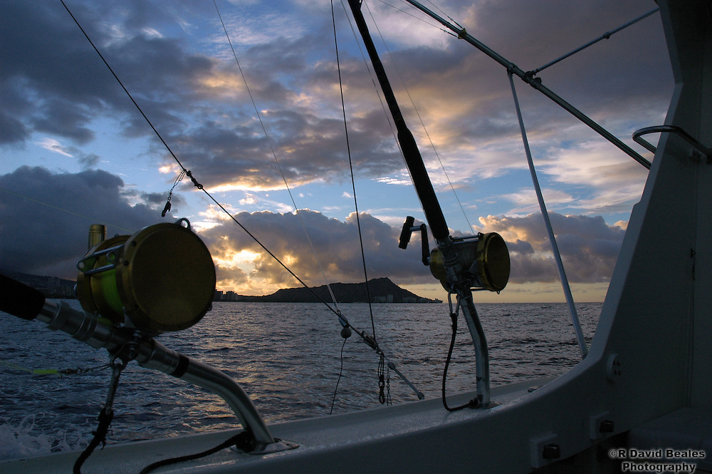 Fishing Reels and Diamond Head Sunrise
