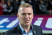 Brentford manager Dean Smith during the EFL Sky Bet Championship match between Brentford and Derby County at Griffin Park, London, England on 26 September 2017. Photo by Sebastian Frej.