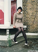Vanessa, a young Mod / Indie girl sat outside her house, Southend, UK 2006