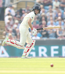 England's Joe Root hits out against Pakistan during day one of the second Investec Test Match at Headingley Carnegie, Leeds.