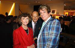 Left to right, LINDY, MARCHIONESS OF DUFFERIN & AVA, MR DAVID METCALFE and NICKY HASLAM at a party to celebrate the publication of 'Made for Maharajas' by Dr Amin Jaffer hosted by Louis Vuitton at their store on Sloane Street, London on 10th October 2006.<br />