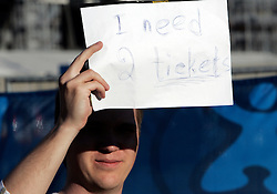 Fan needs two tickets before the UEFA EURO 2008 Group D soccer match between Sweden and Russia at Stadion Tivoli NEU, on June 18,2008, in Innsbruck, Austria. Russia won 2:0. (Photo by Vid Ponikvar / Sportal Images)