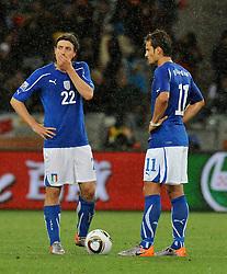 Football - soccer: FIFA World Cup South Africa 2010, Italy (ITA) - Paraguay (PRY), RICCARDO MONTOLIVO CON ALBERTO GILARDINO