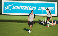 PODGORICA, MONTENEGRO - Thursday, September 2, 2010: Wales' Andy Dorman during a training session at the Montenegro FA Technical Centre ahead of the UEFA Euro 2012 Qualifying Group 4 match against Montenegro. (Pic by David Rawcliffe/Propaganda)