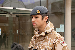 ©under licence to London News Pictures. 15/01/2011.  Homecoming Parade for the Gunners of 1 Squadron RAF Regiment in Bury St Edmunds.  Squadron Commander Dave Crook. Photo credit should read Jason Patel/London News Pictures