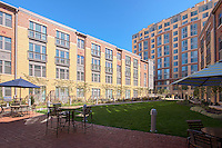 Exterior photo of Post Carlyle Square Apartments Courtyard by Jeffrey Sauers of Commercial Photographics
