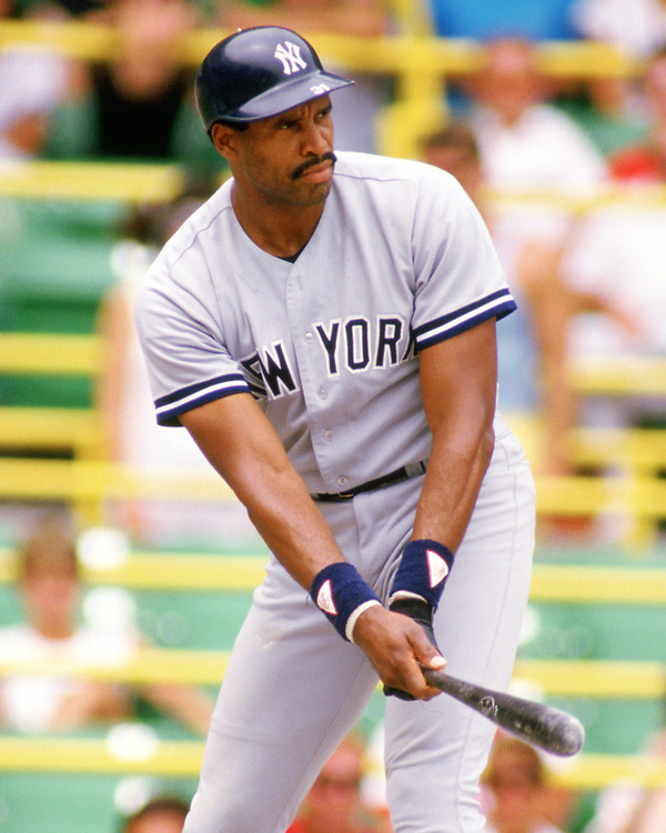 CHICAGO - 1987:  Dave Winfield of the New York Yankees bats during an MLB game versus the Chicago White Sox at Comiskey Park in Chicago, Illinois during the 1987 season. (Photo by Ron Vesely).  Subject:   Dave Winfield